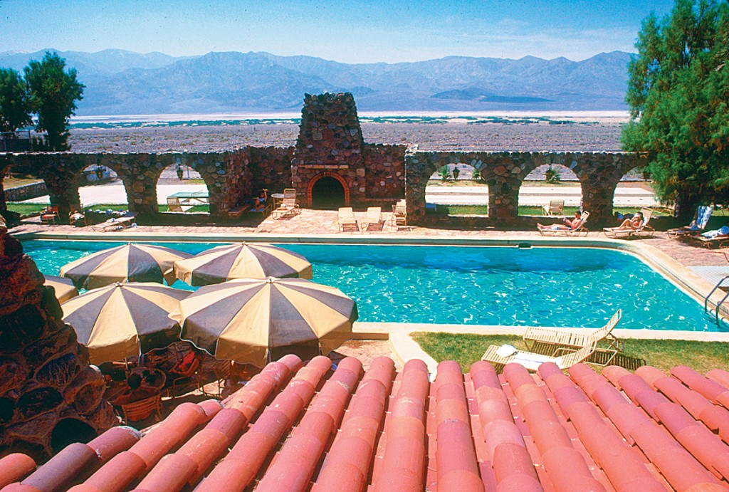 Scenic view of Furnace Creek Inn outdoor pool