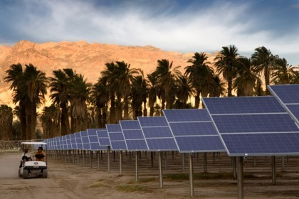 Death Valley Solar PV With Cart