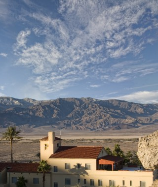 Furnace Creek Inn and Mountains
