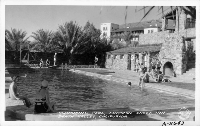 historic Furnace Creek Inn pool 1937